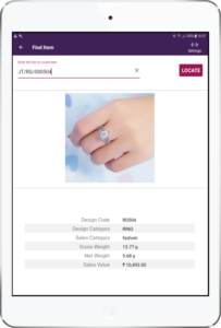 Use the JewelTrace RFID Locate feature to look for any item in your store - and Locate it quickly.